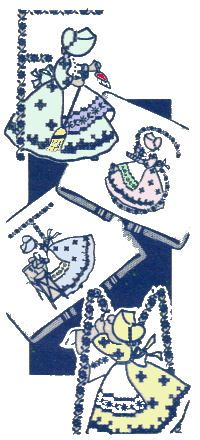 sunbonnet gal vintage embroidery pattern #free #embroidery #diy #crafts
