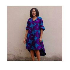 African shirt dress. Ankara shirt dress by TrueFond on Etsy