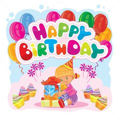 Happy Birthday Greeting Card Template  FontsLogosIcons