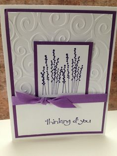 Embossed thinking of you card