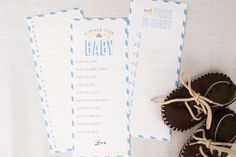 Baby shower game printables