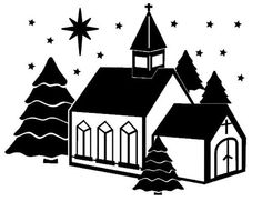 Winter Church Topper......SVG FCM & MTC Digital Files........Commercial Use Allowed by CraftaholicCreation on Etsy