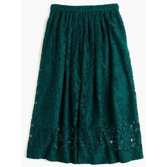 J.Crew Floral Lace A-Line Skirt ($195) ❤ liked on Polyvore featuring skirts, blue a line skirt, long flare skirt, blue floral skirt, long blue skirt and j. crew skirts