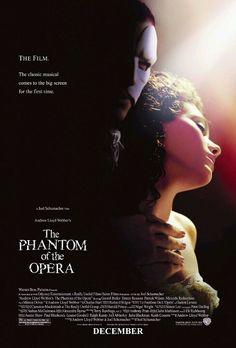 El fantasma de la ópera (2004) dirigida por Joel Schumacher. Ultima adaptación cinematográfica de la novela de Gastón Leroux
