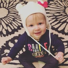Happy 8 months to my sweet angel! She has her first two teeth and started crawling (but would rather stand up and dance like her big cousins she has been around for the holidays). #babyBARRONess #watchoutworldimonthemove