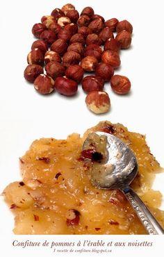 1 recette de confiture: Confiture de pommes à l'érable et aux noisettes Brunch, Winter Food, Cooking Time, Preserves, Risotto, Dips, Oatmeal, Sweets, Canning