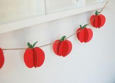 DIY apple garland