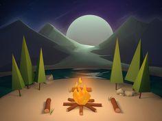 Campfire by Luc Versleijen #Design Popular #Dribbble #shots