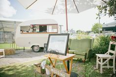 Confetti Lane - Hello Mr Jenkins Beer Garden and vintage caravan, photo by Figtree Pictures