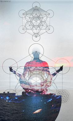 tiredmomentsintopleasure:  Metatron cube by Flincus