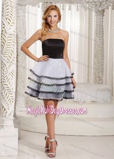 White and Black Short Tiered Halloween Holiday Suit in Seward USA