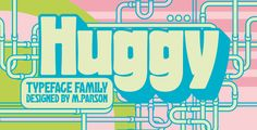 Huggy typeface - Condensed Sans-Serif
