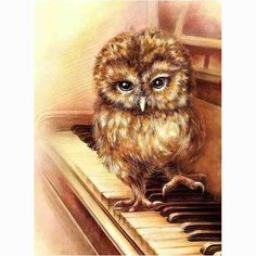 Craft 5D Diamond Painting Cross Stitch Resin Mosaic Whole Crystle Picture Diamond Embroidery Needlework piano owl GA605