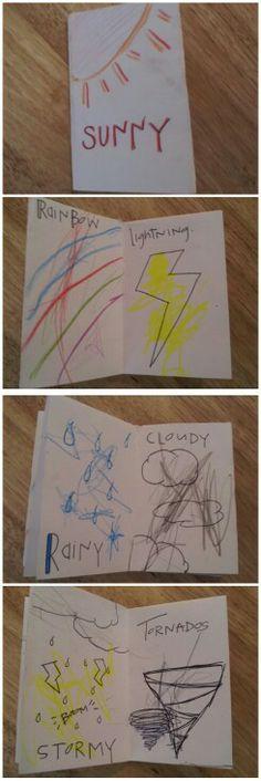 preschool weather book.