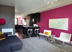 Pinke Wandfarbe – Wie können Sie Ihre Wände kreativ streichen? - pinke wandfarbe ideen benjamin moore trendfarben 2014
