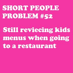 Short People Problem #52 - reviecing?