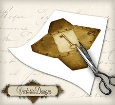 Instant download Steampunk Envelopes Printable by VectoriaDesigns