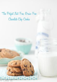 I finally found it! The perfect nut free, grain free, dairy-free chocolate chip cookies! No one will ever miss the grains in these delicious cookies!
