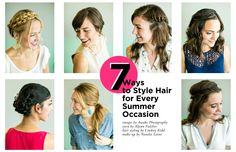 7 Ways to Style Hair for Every Summer Occasion (via the Everygirl)