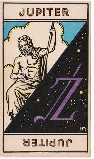Cartas do Destino: Destino e Tarô: Tarot Astrologique - A Carta Júpit...