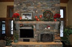 50 Gorgeous Christmas Holiday Mantel Decorating Ideas | Family Holiday