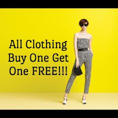 Buy One Get One FREE Clothing All clothing included. No limit up to 5 lbs. over 5 lbs requires multiple orders. Mystery boxes NOT includedI HAVE TO SET UP YOUR BUNDLE AS POSH DOESNT OFFER A DISCOUNT LIKE THIS listed priced only. No offers accepted on one then ask for a free. Hunter Boots Tops Blouses