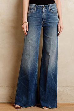 Mother Roller Flare Jeans - anthropologie.com #anthrofave