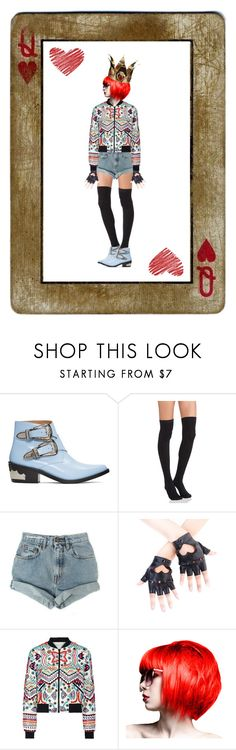 """Queen of Hearts"" by marilyn-montoto ❤ liked on Polyvore featuring Toga, Plush, Levi's and Alice + Olivia"