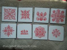 Hungarian Embroidery, My Heritage, Folk Art, Coasters, Stitch, Holiday Decor, Hungary, Irish, Patterns