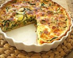 Quiche de calabací­n y jamón Quiche Lorraine, Quiches, Salad Recipes, Diet Recipes, Pizza Sandwich, Savory Tart, Italian Recipes, Sandwiches, Clean Eating
