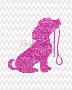 Dog printable Nursery wall art Little girl bedroom by DorindaArt