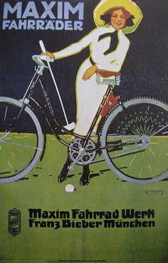 Vintage Bicycles Posters: Maxim Fahrräder, via Flickr.