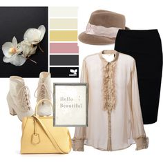 palette from design seeds Design Seeds, Hello Beautiful, Skirt Outfits, Orchids, Palette, Comfy, Casual, Polyvore, Cute