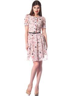 Летнее платье выше колена