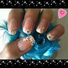 Simple french flower!  Find me on Facebook - Me & my nails!