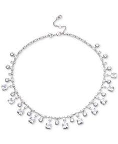 b4177c59fb Carolee Silver-Tone Cubic Zirconia Collar Necklace Necklace Online