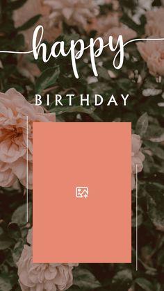 Happy Birthday Template, Happy Birthday Frame, Happy Birthday Posters, Happy Birthday Quotes For Friends, Happy Birthday Wallpaper, Birthday Post Instagram, Birthday Captions Instagram, Birthday Collage, Birthday Posts