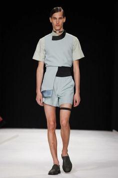 Xander Zhou Spring Summer Menswear 2014 London