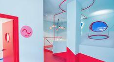 Open House Madrid, Estudio Lamela, Retail, Store, Interior, Baby, Red Floor, School, Architecture