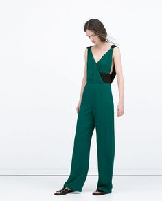 Image 1 of LONG COLORED JUMPSUIT from Zara