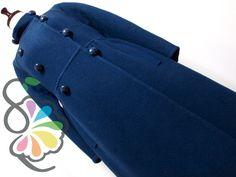 フランス ヴィンテージ レトロ デザイン コート[フルーツポンチョ コレクション] - レディース 古着 フルーツポンチョ