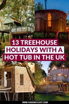 13 Amazing Treehouse Holidays With a Hot Tub in the UK [2021] Europe Destinations, Europe Travel Guide, Travel Guides, Travel Uk, Group Travel, Holiday Destinations, Scotland Travel, Ireland Travel, Best Hotels