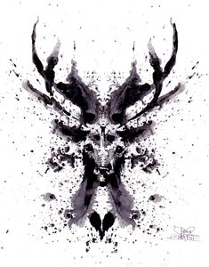 Rorschach Stag by ~lora-zombie on deviantART