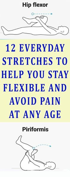 Here 12 Everyday Stretches To Help You Stay Flexible & Avoid Pain At Any Age! - Tips Life Mega Back Leg Muscles, Sore Muscles, Herbal Remedies, Health Remedies, Natural Remedies, Qi Gong, Muscle Stretches, Stretching Exercises, Sciatica Exercises