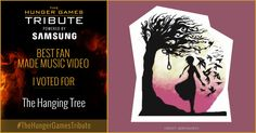 I voted for <em>The Hanging Tree</em> as Tribute for The Hunger Games Tribute Awards #TheHungerGamesTribute  tribute.thehungergames.movie
