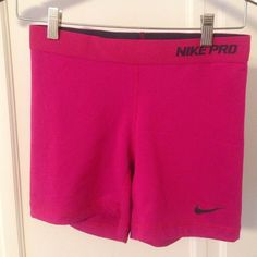 Nike Pro Dri-fit shorts Hot pink Nike pro Dri-fit shorts. Worn once. 5 inch inseam. Size medium - TTS. Nike Shorts