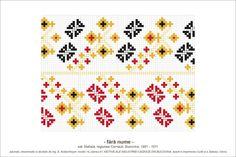 Semne Cusute: MOTIVE: (P41, M14) - rauri increngate Folk Embroidery, Hama Beads, Beading Patterns, Pixel Art, Cross Stitch, Childhood, Traditional, Quilts, Blanket