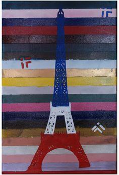 Pray for Paris, Foryś Ilona, olej, spray na płótnie, 60 x 40 cm, 2016