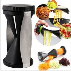 $19.99 – NOW $12.99 [Vegetable Spiral Slicer]- **FREE Expedited USPS Tracking Shipping in USA.** These Custom designed Vegetable Spiral Slicer are a MUST HAVE! Designed with premium high-quality mater