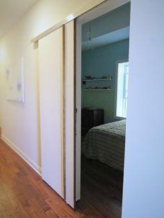 DIY:  A Sliding Barn-Type Bedroom Door